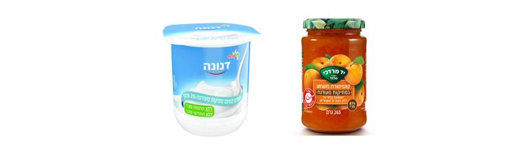 קונפיטורה של יד מרדכי ודנונה - מוצרים מופחתים סוכר